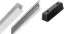 Rubber and aluminium profiles